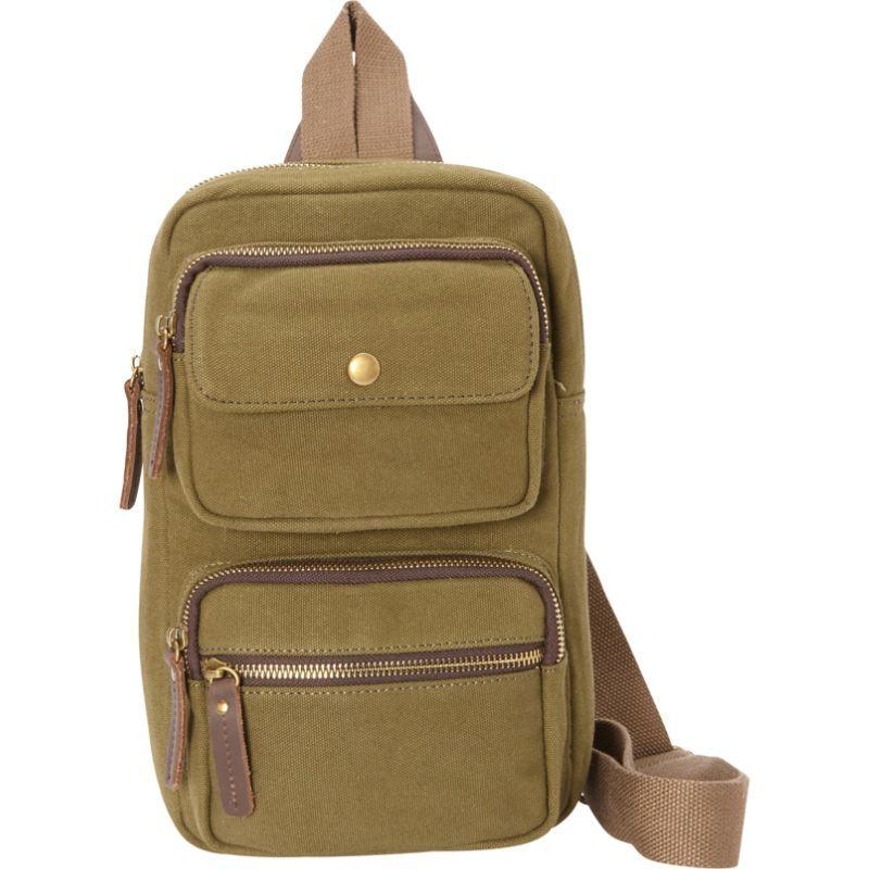 ヴァガボンドトラベラー メンズ ショルダーバッグ バッグ Cotton Canvas Chest Pack Travel Bag Green