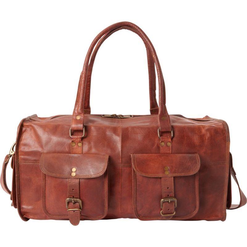 シャロレザーバッグス メンズ スーツケース バッグ All Purpose Carry-On Duffel Brown