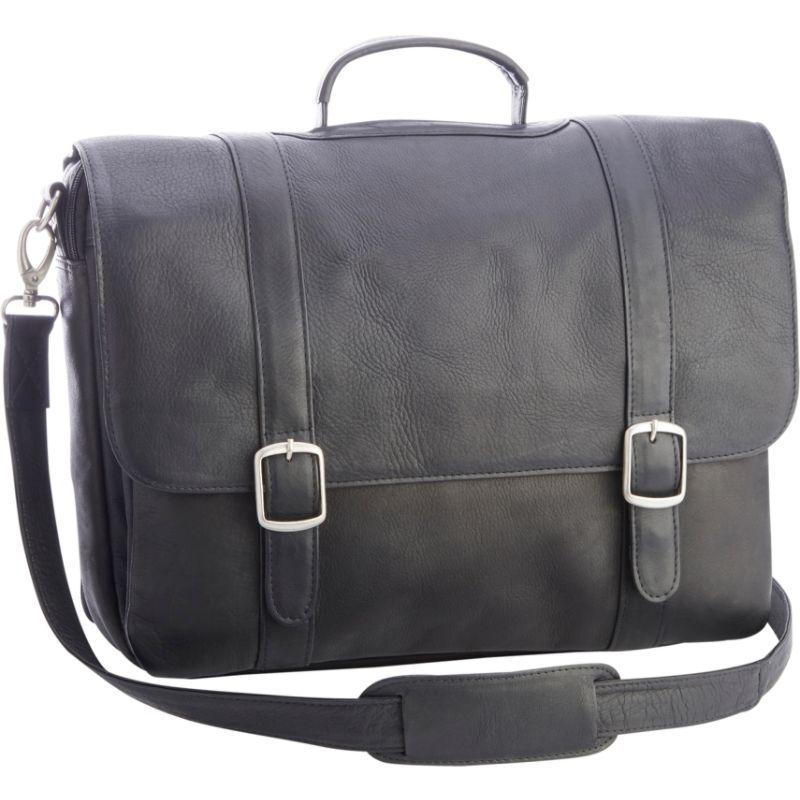 ロイスレザー メンズ スーツケース バッグ Colombian Leather 15 Laptop Satchel Brief Black