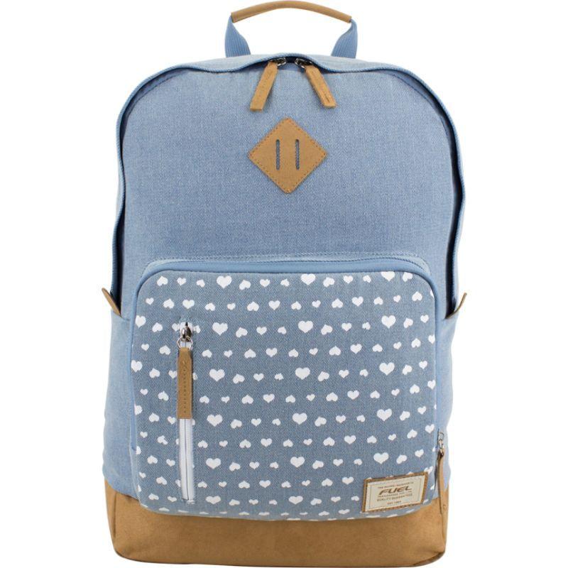 フュエル メンズ バックパック・リュックサック バッグ Everyday Multi-Purpose Backpack Denim/Faux Suede