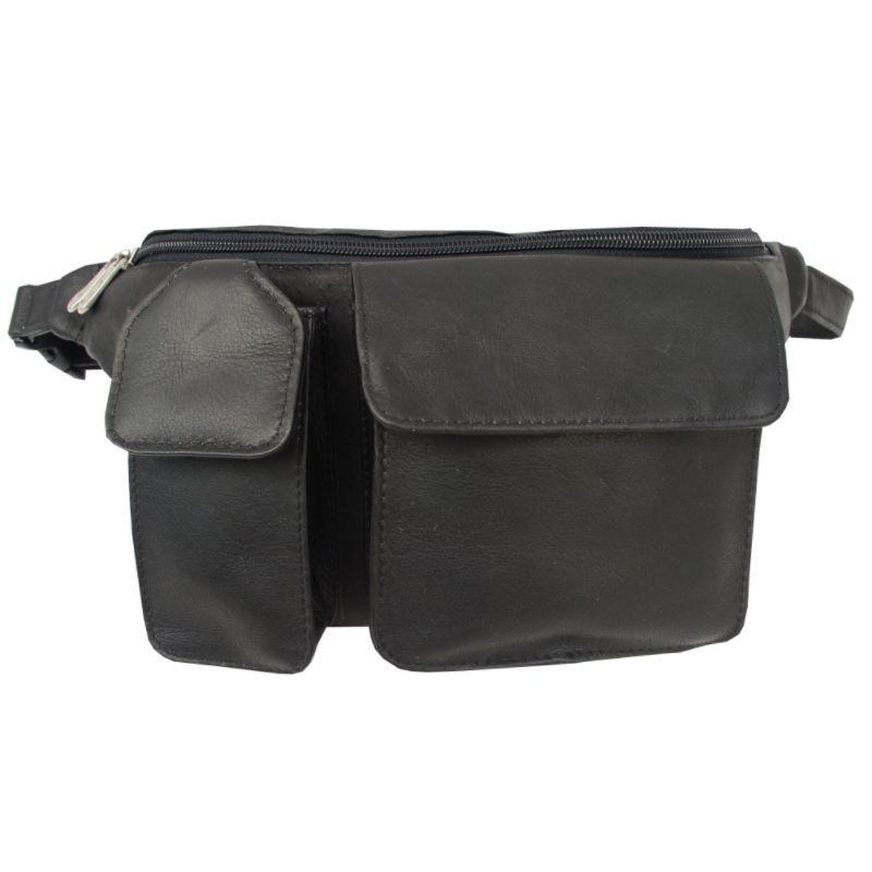 ピエール メンズ ボディバッグ・ウエストポーチ バッグ Waist Bag with Phone Pocket Black