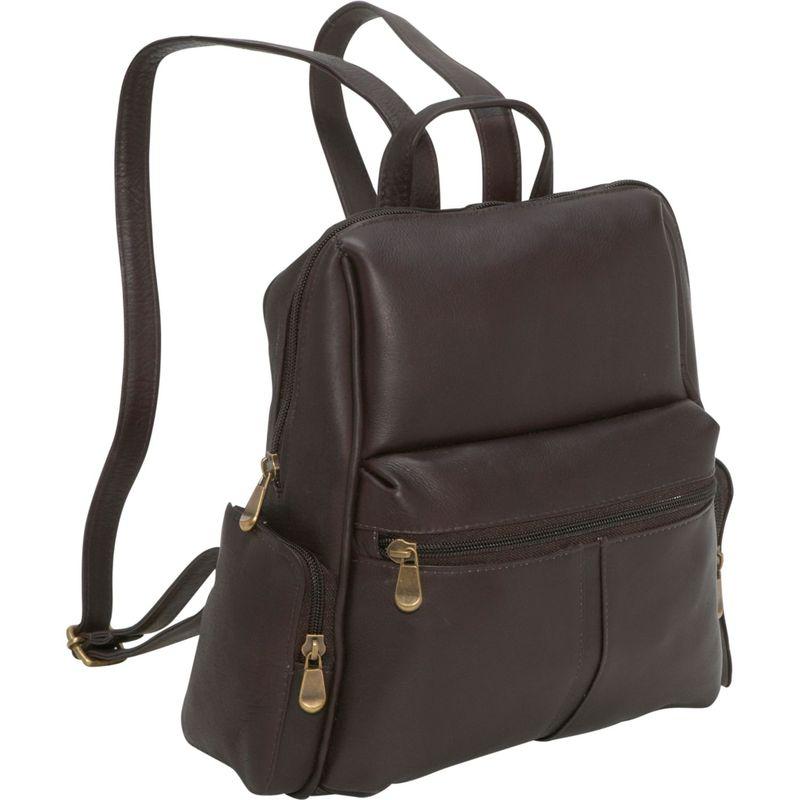 ルドネレザー メンズ ハンドバッグ バッグ Zip Around Backpack/Purse Cafe