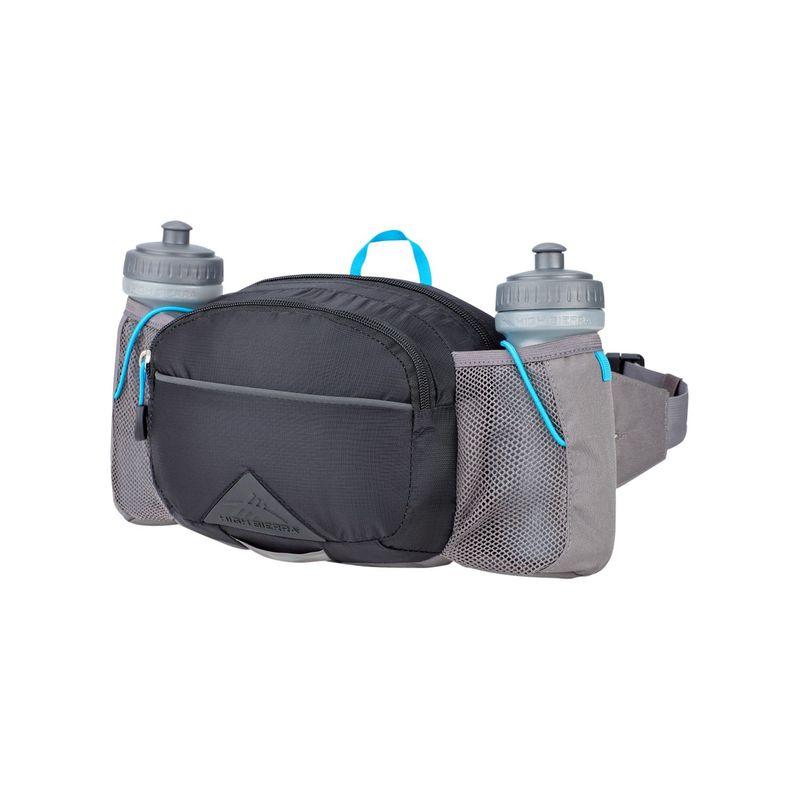 ハイシエラ メンズ バックパック・リュックサック バッグ Hydrahike 3L Waist Pack with Bottles Black/Slate/Pool