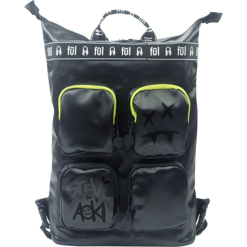 フル メンズ バックパック・リュックサック バッグ Steve Aoki FANG Convertible Backpack Tote Black/Neon Green