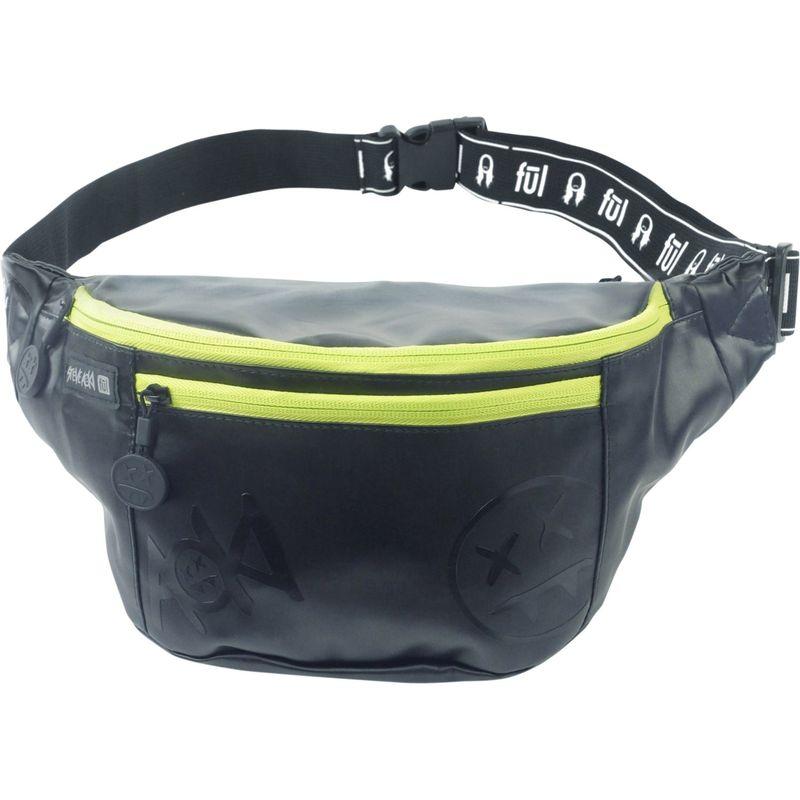 フル メンズ ボディバッグ・ウエストポーチ バッグ Steve Aoki FANG Crossbody Bag Black/Neon Green