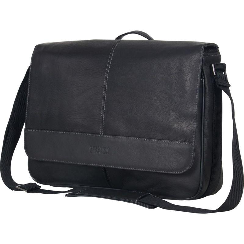 ケネスコール メンズ ショルダーバッグ バッグ Risky Business - Colombian Leather Messenger Bag Black