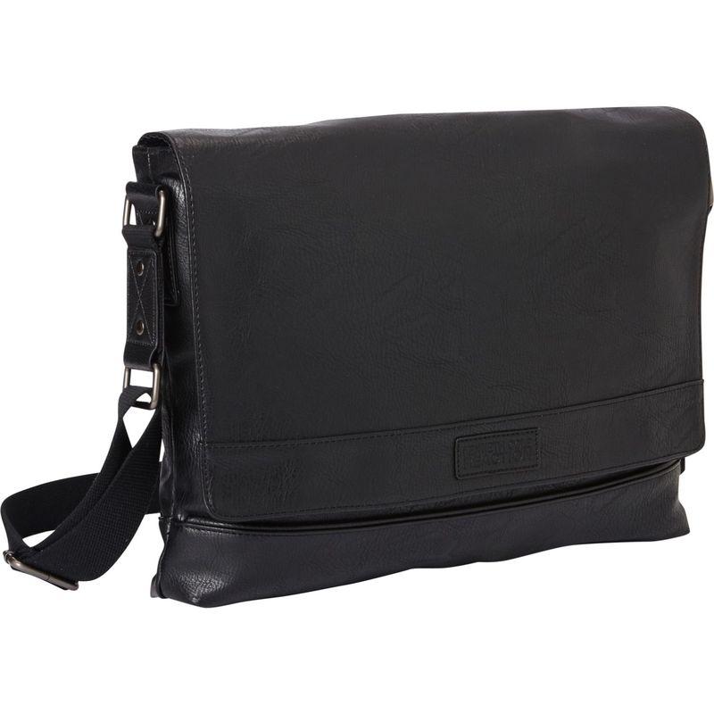 ケネスコール メンズ ショルダーバッグ バッグ Casual Explorer Slim Single Compartment Messenger Bag Black