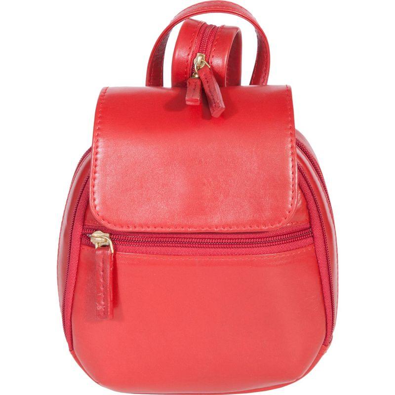 スカーリー メンズ バックパック・リュックサック バッグ Mini Leather Backpack Handbag Red