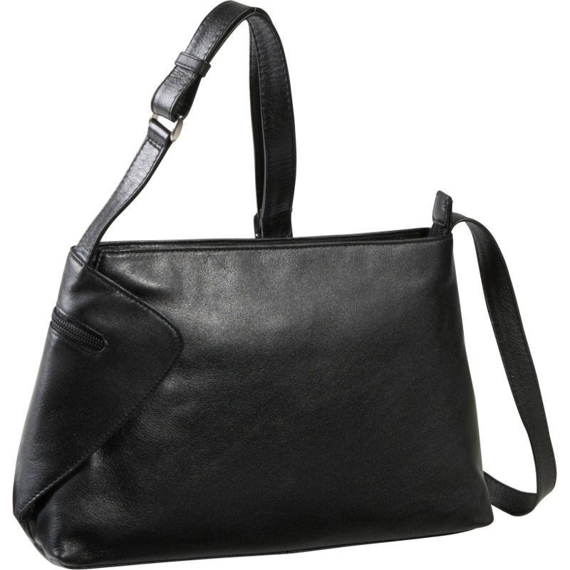 デレクアレクサンダー メンズ ショルダーバッグ バッグ EW Top Zip With Gusset Detail Black