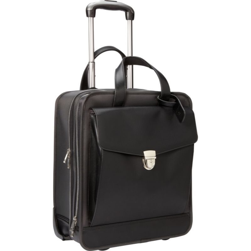 ウーメンインビジネス レディース スーツケース バッグ Francine Collection - Monte Carlo Vertical 16.1 Laptop Roller Black