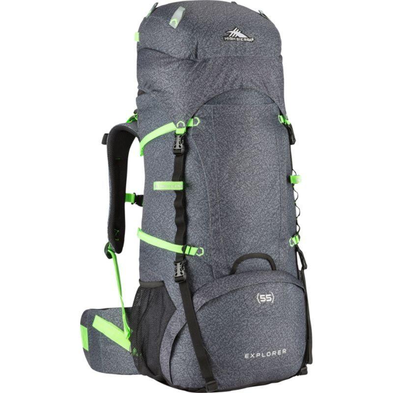 ハイシエラ メンズ バックパック・リュックサック バッグ Explorer 55 Texture/Black/Lime