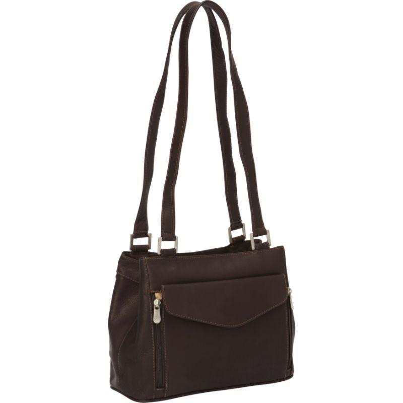 ピエール メンズ ショルダーバッグ バッグ Double Compartment Shoulder Bag Chocolate