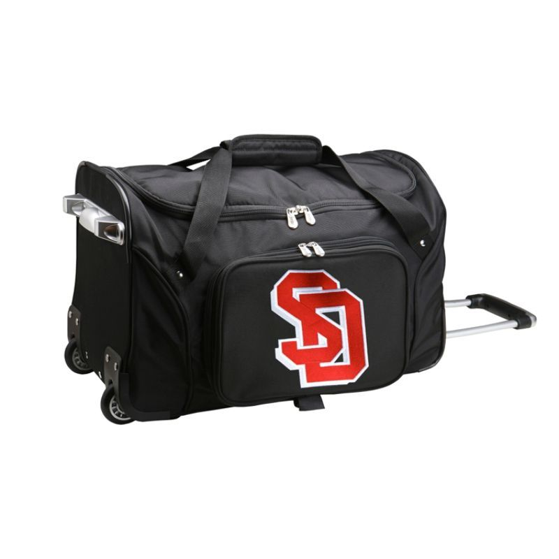デンコスポーツ メンズ スーツケース バッグ NCAA 22 Rolling Duffel South Dakota State University Jackrabbits