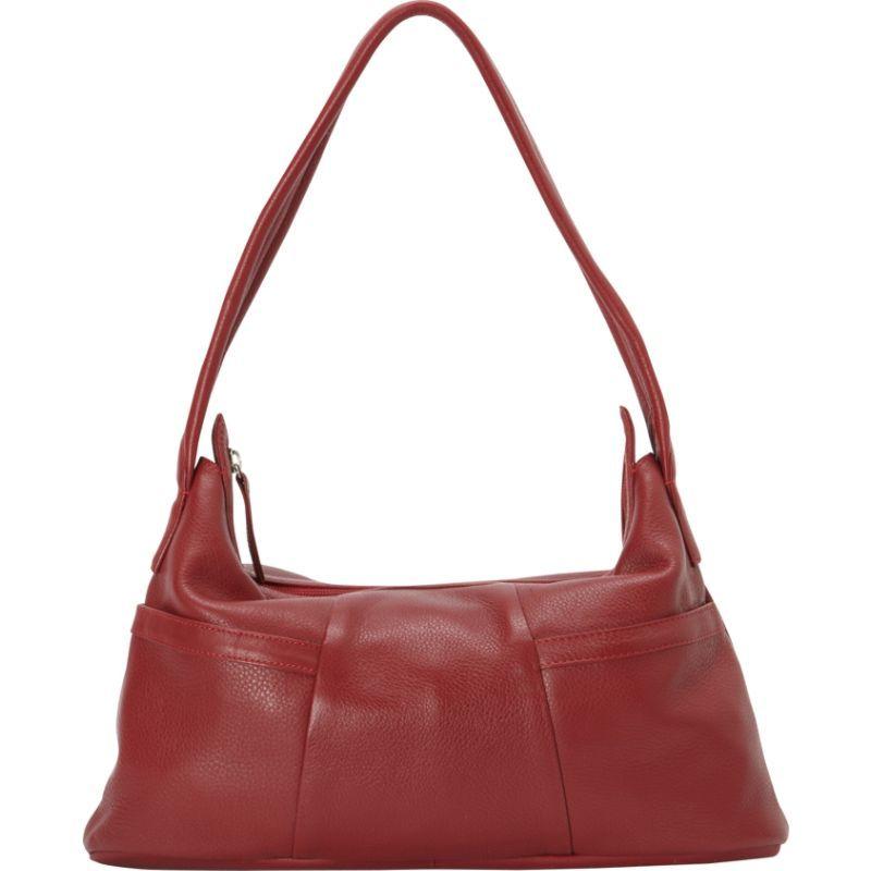 デレクアレクサンダー メンズ ショルダーバッグ バッグ Small Hobo Style EW Two Top Zip Red