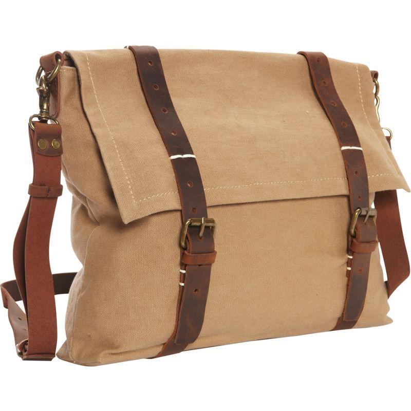 ヴァガボンドトラベラー メンズ ショルダーバッグ バッグ Casual Style Slim Canvas Messenger Bag Khaki
