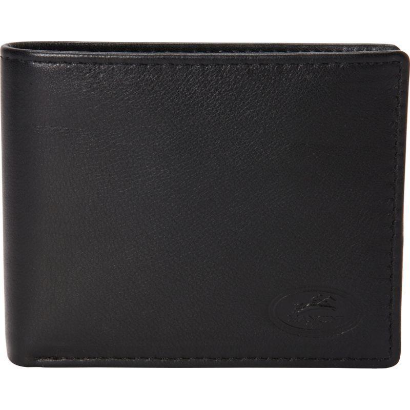 マンシニレザーグッズ メンズ 財布 アクセサリー Manchester Collection: Mens RFID Wallet with Coin Pocket Black