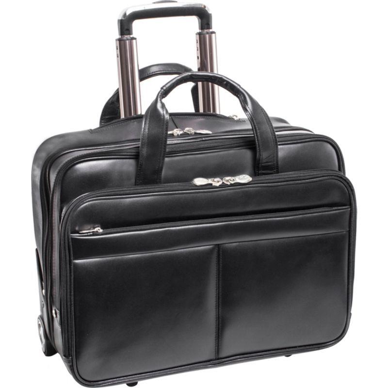 マックレイン メンズ スーツケース バッグ Bowery Wheeled Non-Detachable Laptop Briefcase Black