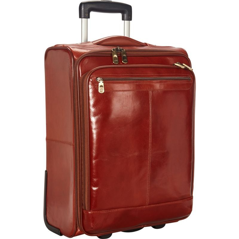 マンシニレザーグッズ メンズ スーツケース バッグ Signature Overnight 15.6 Laptop/Tablet Wheeled Briefcase Brown