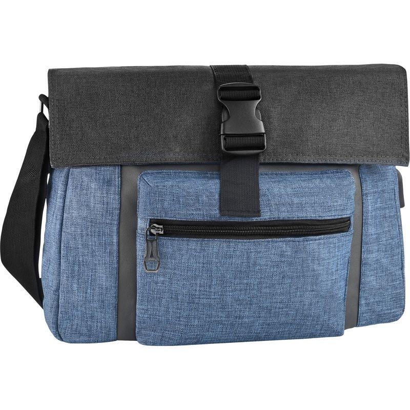 サムシングストロング メンズ スーツケース バッグ Charging Messenger Bag Blue