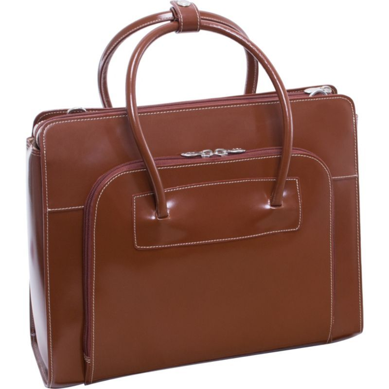 マックレイン レディース スーツケース バッグ W Series Lake Forest Leather Women's 15 Laptop Case Brown