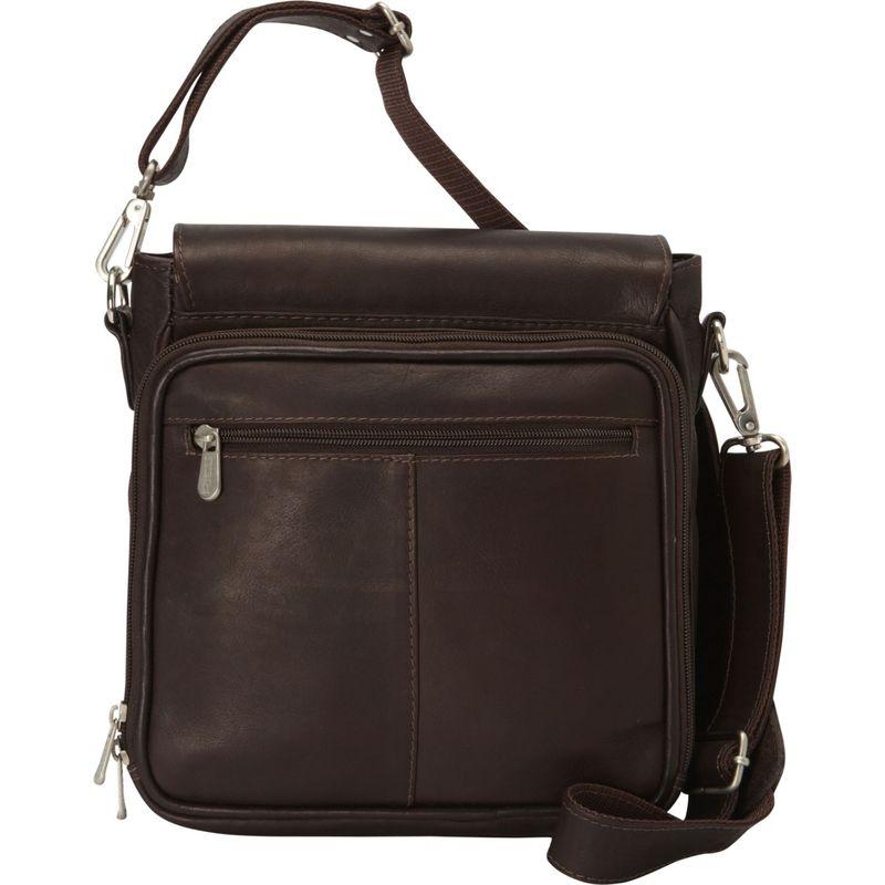 ピエール メンズ ショルダーバッグ バッグ Double Loop Tablet Carry-All Messenger Bag Chocolate