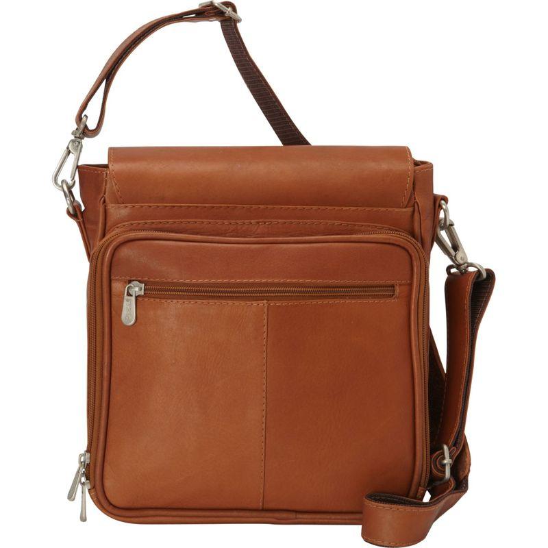 ピエール メンズ ショルダーバッグ バッグ Double Loop Tablet Carry-All Messenger Bag Saddle