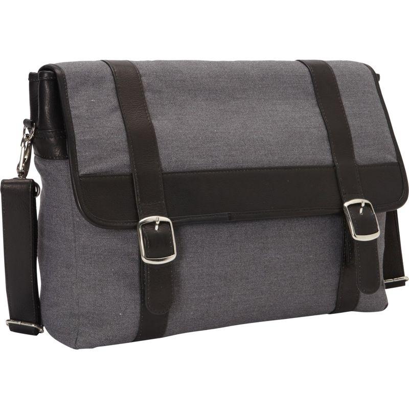 ピエール メンズ スーツケース バッグ Flap-Over Laptop, Tablet Portfolio Briefcase Black