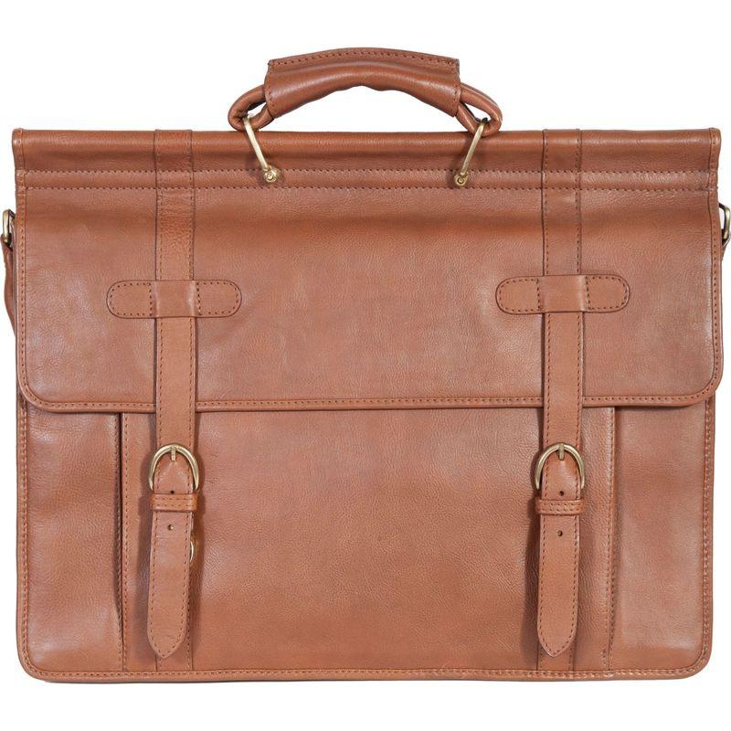 スカーリー メンズ スーツケース バッグ Hand Stained Calf Leather Overnight Workbag Tan