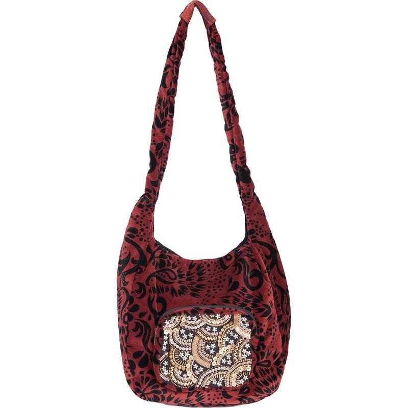 スカーリー メンズ ショルダーバッグ バッグ Soft Velvet Shoulder Bag Auburn