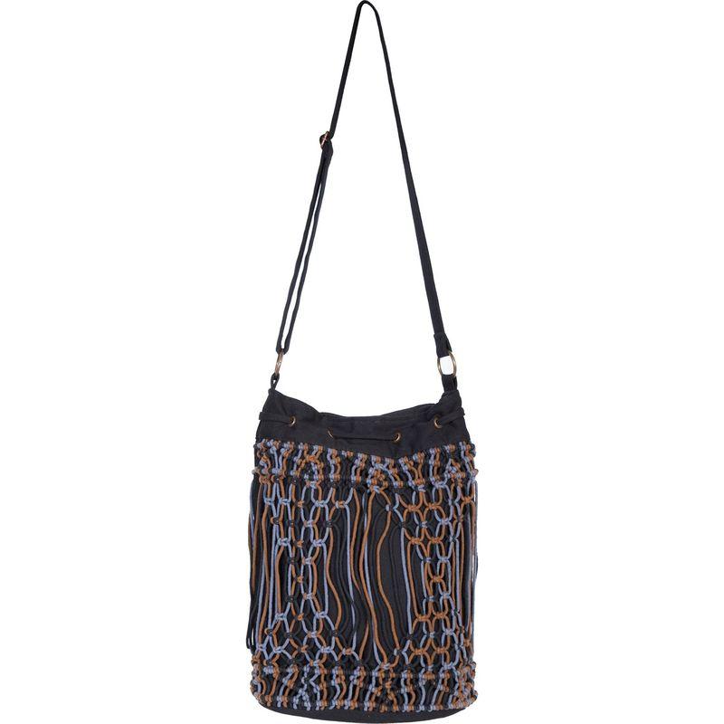 スカーリー メンズ ショルダーバッグ バッグ Tri-Tone Macrame Shoulder Bag Black