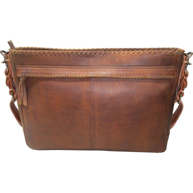 スカーリー メンズ ショルダーバッグ バッグ Sierra Leather Whipstitch Messenger Bag Tan