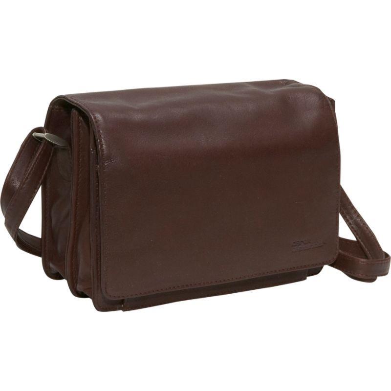 デレクアレクサンダー メンズ ショルダーバッグ バッグ Full Flap Organizer Brown