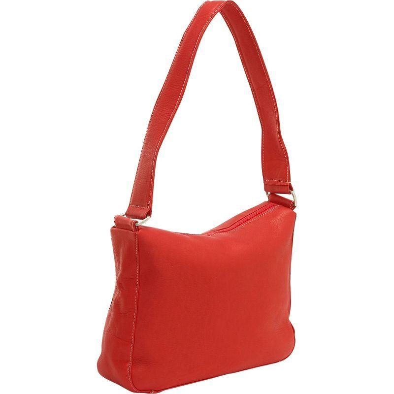 ルドネレザー メンズ ショルダーバッグ バッグ Top Zip Shoulder Bag Red