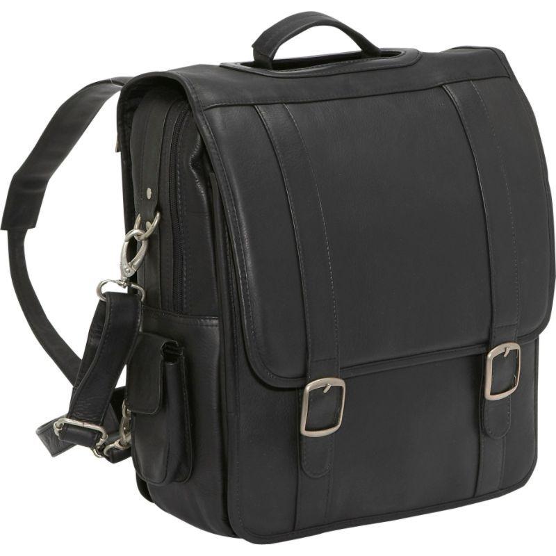 ルドネレザー メンズ スーツケース バッグ Convertible Backpack/Laptop Brief Black