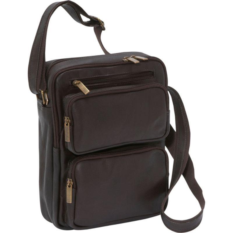 【Le Donne Leather Multi Pocket iPa ショルダーバッグ メッセンジャーバッグ メンズ ルドンレザー