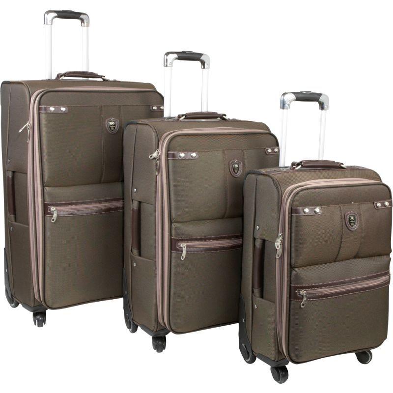 ジャイワールドニューヨーク メンズ スーツケース バッグ Centennial 3 Piece Spinner Set Brown