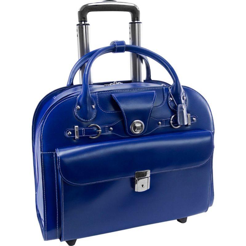 マックレイン メンズ スーツケース バッグ Edgebrook Wheeled Ladies 15 Laptop Case Navy