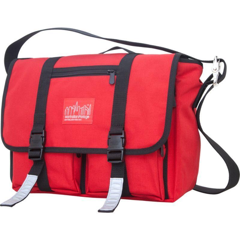 マンハッタンポーテージ メンズ ショルダーバッグ バッグ Trotter Messenger Bag Jr. Red