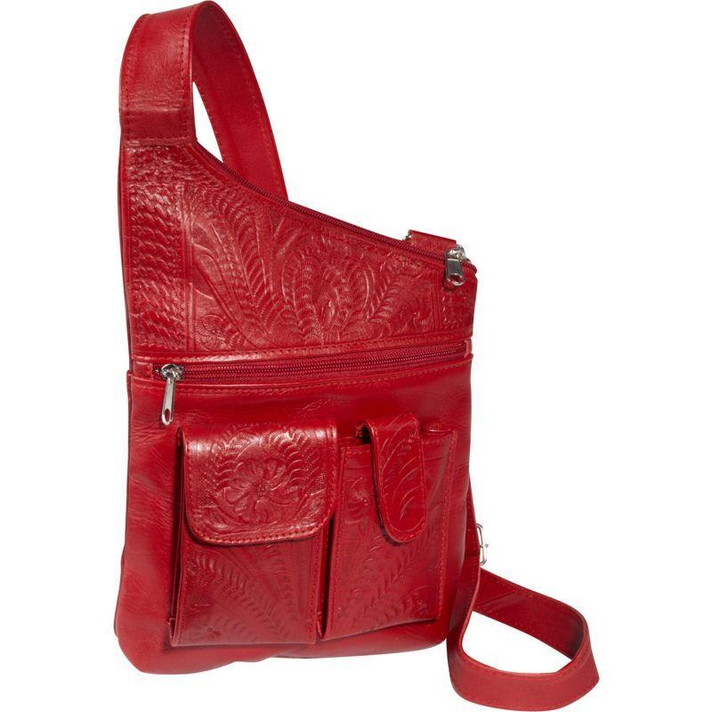 ロピンウェスト メンズ ボディバッグ・ウエストポーチ バッグ Cross Over Crossbody Bag Red