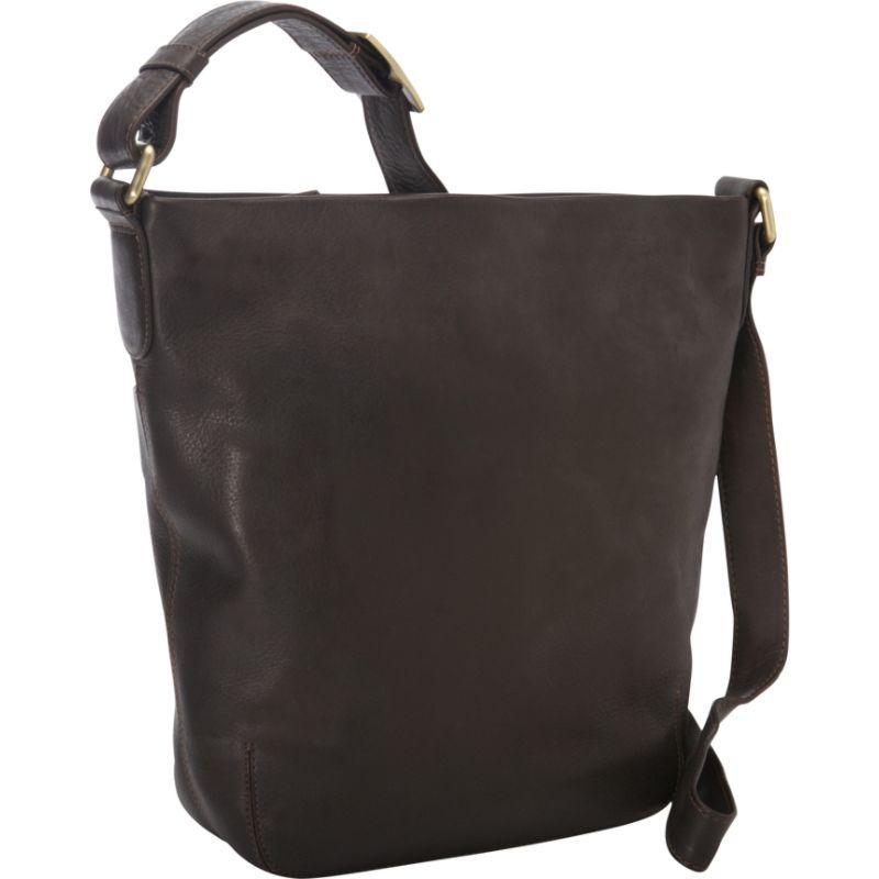 デレクアレクサンダー メンズ ショルダーバッグ バッグ NS Top Shoulder Zip Bag Brown