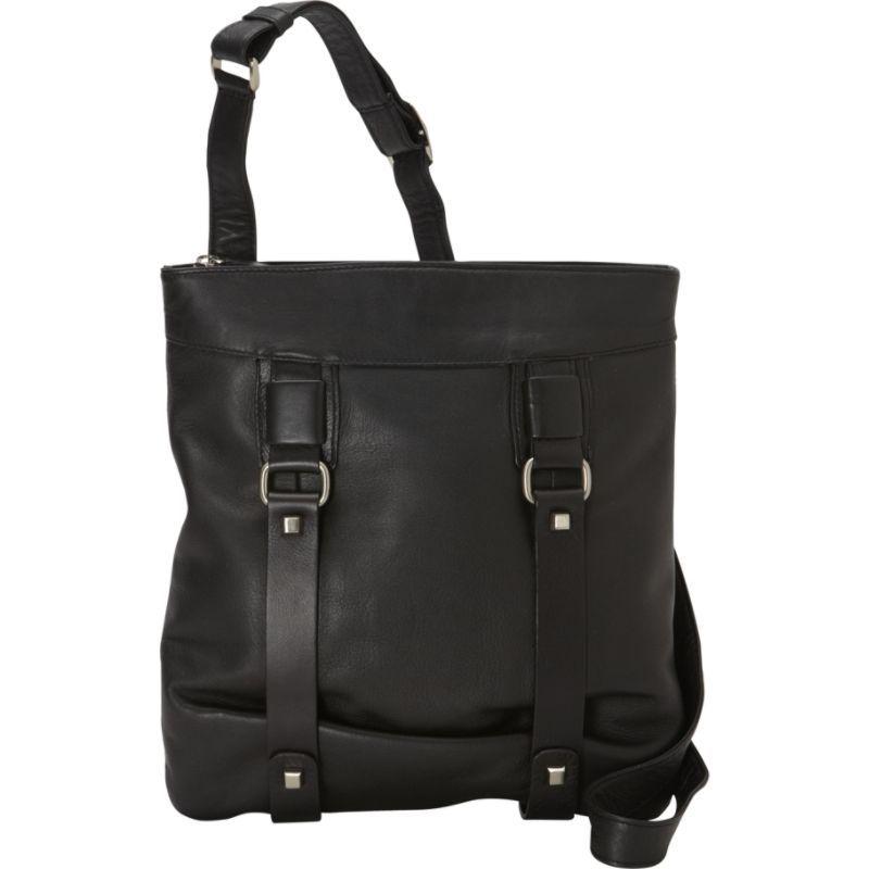 デレクアレクサンダー メンズ ショルダーバッグ バッグ NS Top Zip Shoulder Black/Black