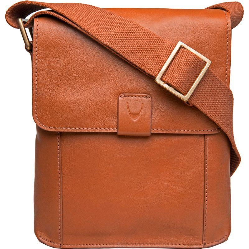 ハイデザイン メンズ ショルダーバッグ バッグ Aiden Small Leather Messenger Crossbody Bag Tan