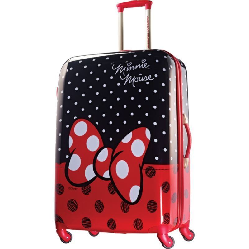 アメリカンツーリスター メンズ スーツケース バッグ Disney Minnie Mouse Hardside Spinner 28 Minnie Mouse Red Bow
