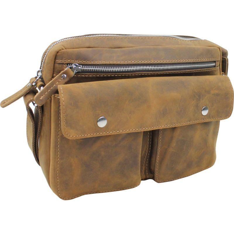 ヴァガボンドトラベラー メンズ ショルダーバッグ バッグ Leather Casual Messenger Bag Vintage Brown