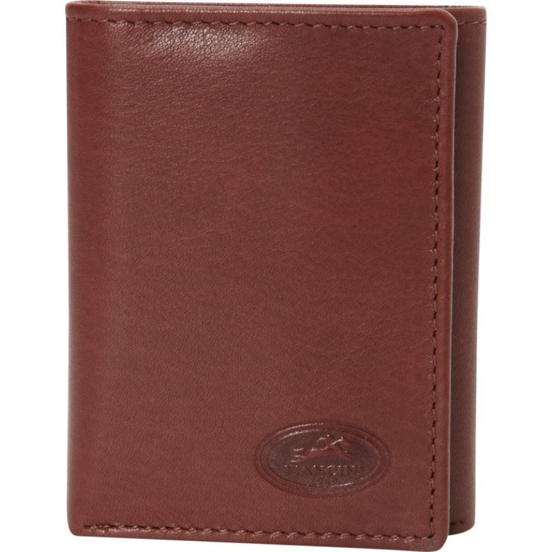マンシニレザーグッズ メンズ 財布 アクセサリー Mens RFID Secure Trifold Wing Wallet Cognac
