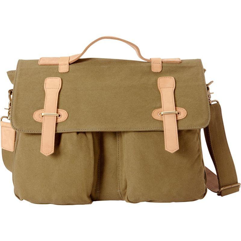 ヴァガボンドトラベラー メンズ ショルダーバッグ バッグ Casual Style Canvas Laptop Messenger Bag Green