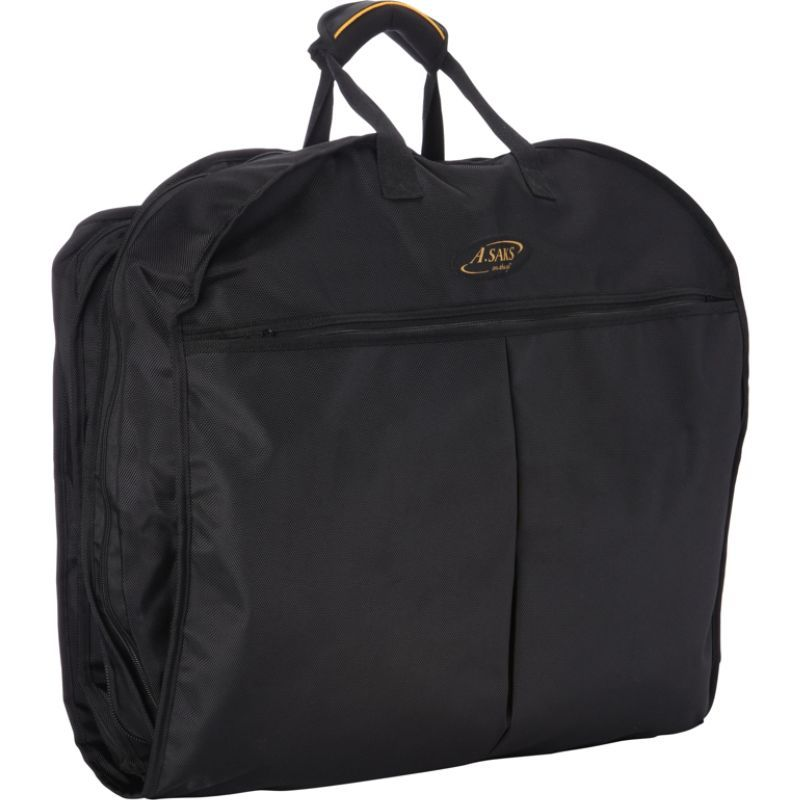 エーサックス メンズ スーツケース バッグ Lightweight Ballistic Nylon Garment Cover Black/Black