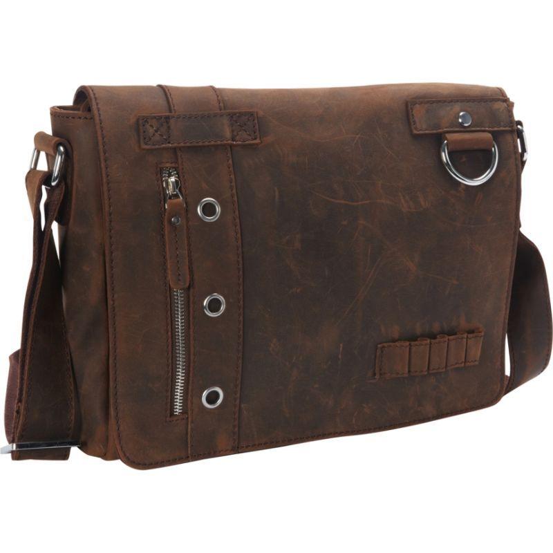 ヴァガボンドトラベラー メンズ ショルダーバッグ バッグ Full Grain Leather Asymmetrical Messenger Bag Vintage Brown