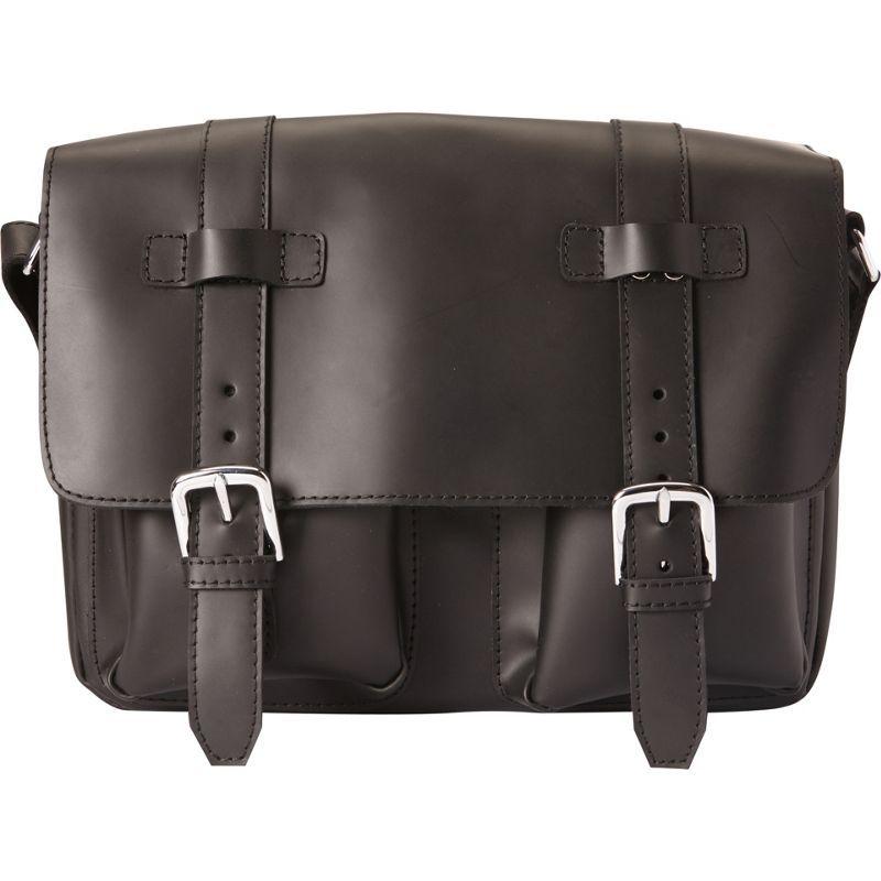 ヴァガボンドトラベラー メンズ ショルダーバッグ バッグ Full Grain Leather Casual Messenger Bag Black