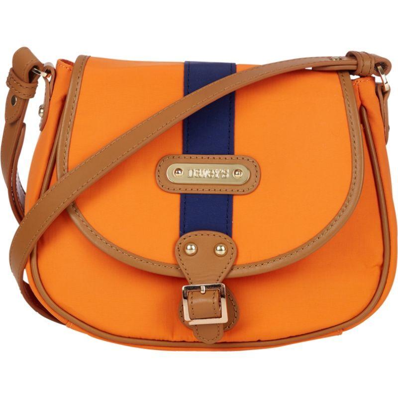 ダベイズ メンズ ボディバッグ・ウエストポーチ バッグ Crossbody Stripe Saddlebag Orange/Navy Stripe